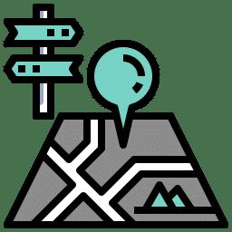 Icono de tours de viaje