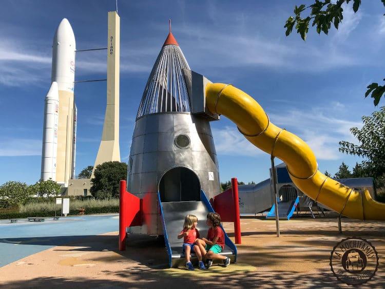 Toulouse con niños pequeños. Ciudad del espacio