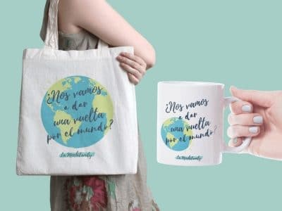 pack mundo taza + tote bag